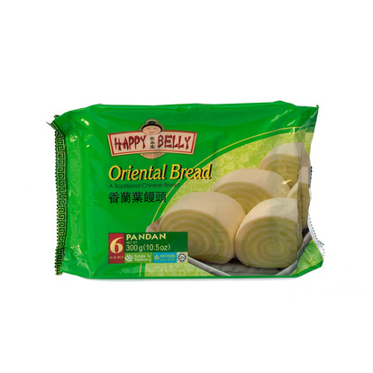 Bröd/Mantou Pandan 300g Happy Belly Brand Kina
