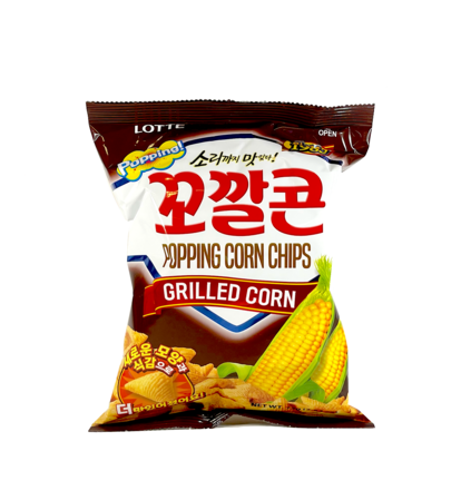 Popping Corn Chips Grillad Majs Smak 72g Lotte Korean