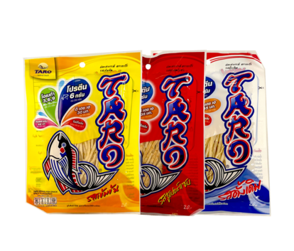 Fisk Snacks Original/Spicy/Hot Chili Mix 25gx3st Taro Thailand